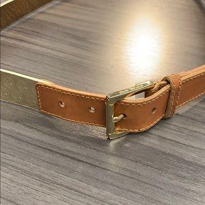 Gold MK belt
